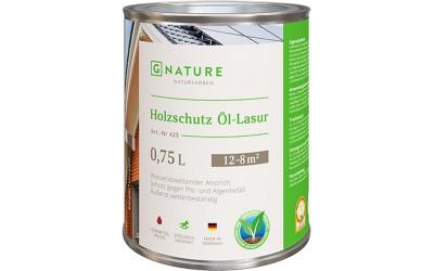Holzschutz-Ol-Lasur Масло-лазурь для дерева G-Nature 0,375 л
